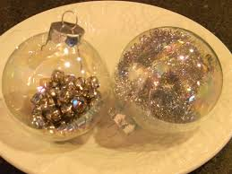clear glass tree ornaments lights decoration