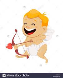 imagenes de amor con muñecos animados día de san valentín tarjeta de felicitación con lindo cupido dispara