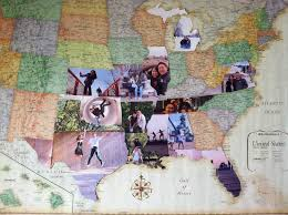 visited states map way to keep track of where you ve been on a map take a
