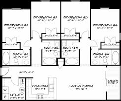 Floor Plans With Dimensions by Live At Sunchase Sunchase Jmu Harrisonburg Apartments