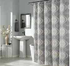Gray Fabric Shower Curtain Geometric Fabric Shower Curtains Ebay