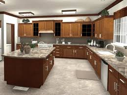 design small kitchen light brown smooth rock countertop polished