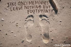 footprint tattoo quotes 16 x 20 print take only memories seattle travel and chief seattle