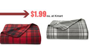 kmart deal fleece throws for 1 99 southern savers