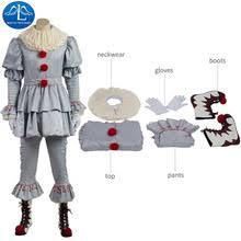 Scary Clown Halloween Costumes Men Popular Halloween Costumes Men Scary Clown Buy Cheap Halloween
