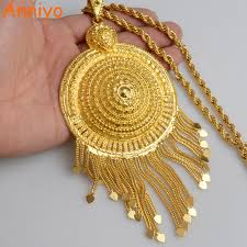 gold big pendant necklace images Anniyo africa big pendant necklaces women ethiopian jewelry gold jpg