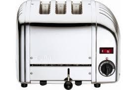 Dualit Stainless Steel Toaster 30084 3 Slice Vario Toaster Stainless Steel
