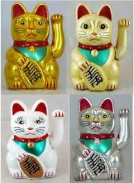 swinging arm fortune cat maneki neko battery powered lucky cat