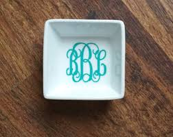 monogrammed dishes monogrammed dishes etsy