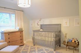 Nursery Light Bellissimo And Bella A Gray Cream And Blue Room For A Baby Boy