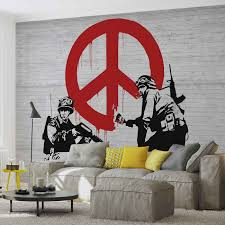 banksy graffiti wall paper mural buy at europosters price from