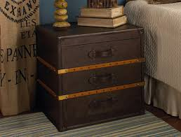 trunk style side table distressed leather steamer trunk side table not sure i like the