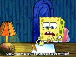 midterms as told by spongebob squarepants her campus