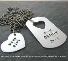 baby dog tags and baby girl necklace set aluminum dog tag medium