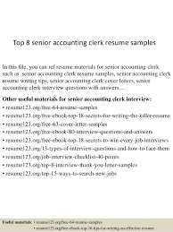 Accounting Assistant Resume Samples by Top 8 Senior Accounting Clerk Resume Samples 1 638 Jpg Cb U003d1431825972