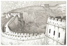 great wall of china pencil drawing u2013 my site
