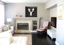 Interior Home Decorators Contemporary Living Room With Built In Bookshelf By Interior