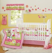 Baby Crib Bed Sets Pink Zebra Giraffe Animals Baby Crib Bedding Set Cot Kit
