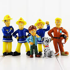 aliexpress buy 12pcs lot 3 6cm cartoon fireman sam figure