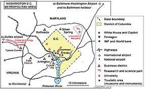 washington dc region map washington metropolitan area