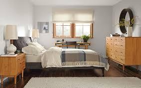 hoffman custom queen bed in tamm fabric modern custom furniture