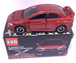 purple mitsubishi lancer japan tomy tomica mitsubishi lancer evolution x evo x final