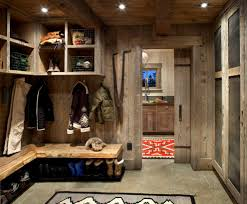 mud laundry room ideas entry rustic with coat hooks exposed beams