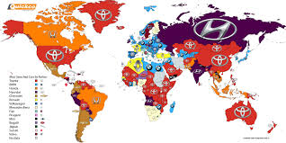 Google Map Of The World by Biser3a Here U0027s A Map Of The Most Googled Car Brands Around The