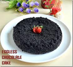 Eggless Chocolate Cake Dark Chocolate Cake Recipe Chitra U0027s