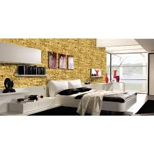 Self Stick Wallpaper decowall montecarlo gold spaccato peel and stick 3d effect self
