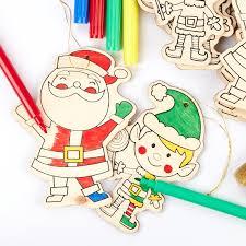 wood cutout christmas ornaments kid u0027s group activity kit wood