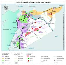 Map Of Syria And Russia Map Syrian Army Pro Assad Forces Gains Since Russian