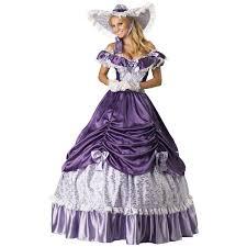 Victorian Halloween Costumes Women Southern Belle Hoop Skirt Purple Gown Costume Polyvore