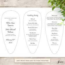 wedding program printable fan wedding program petal fan program printable template connie