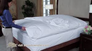 Goose Feather Bed Topper How To Protect Your Feather Bed Downlite Youtube