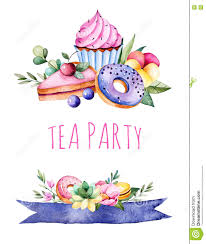 Cherry Cupcake Invitation Card Royalty Beautiful Watercolor Invitation With Tasty Cupcakes Succulent