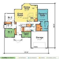 one house plans with basement lovely one floor house plans with basement home plans design