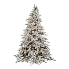 7 8 high flocked trees you ll wayfair