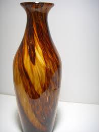 cased glass floor vase art decor murano style 18