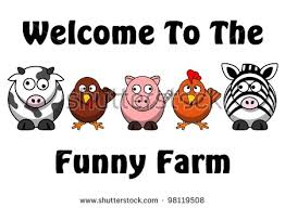 funny welcome welcome funny farm saying some funny stock illustration 98119508