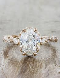 rings design images images Shanel rose gold oval diamond twisted band ring ken dana design jpg