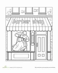 paint places paint the town barber shop worksheet education com