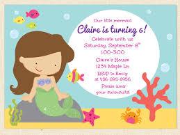 Birth Day Invitation Card Mermaid Birthday Invitations Kawaiitheo Com