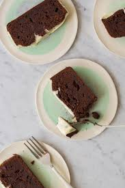 double chocolate pound cake spoon fork bacon