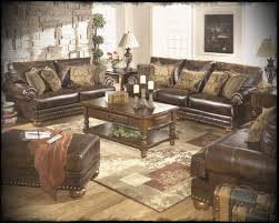 ashley living room furniture sets with classical leather sofas and