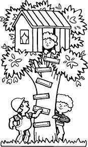spending summertime tree house coloring download u0026 print