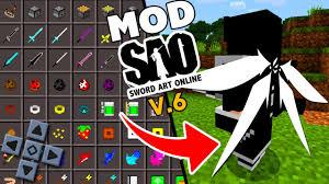 saiu mod sword art online v6 com sistem de gui para minecraft pe