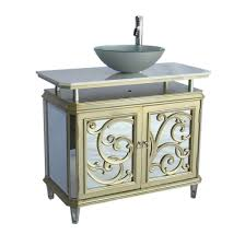 Bathroom Vanities With Vessel Sinks Adelina 38 5 Inch Mirrored Reflection Vessel Sink Bathroom Vanity