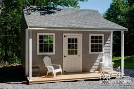 vinyl shake shed with farmers porch post woodworking sheds