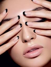 best 25 black french manicure ideas on pinterest matte black